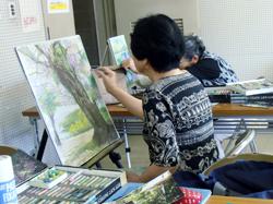 絵画教室 豆の木会  中津川市公民館内
