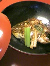 24 ホテル夕食(鯛のかぶと煮)