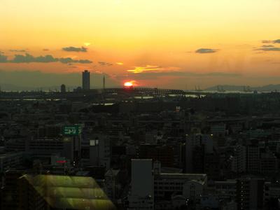 大阪の夕日!